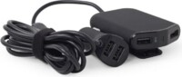 Car charger 4ports/9.6A/black EG-4U-CAR-01
