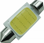 C5W 41mm balta LED COB auto