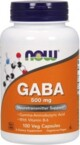 Now Foods GABA 500 mg 100