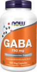 Now Foods GABA 750 mg 200